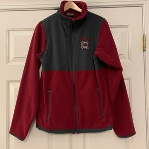 Carolina Gamecocks USC 🐔 full zip fleece jacket L